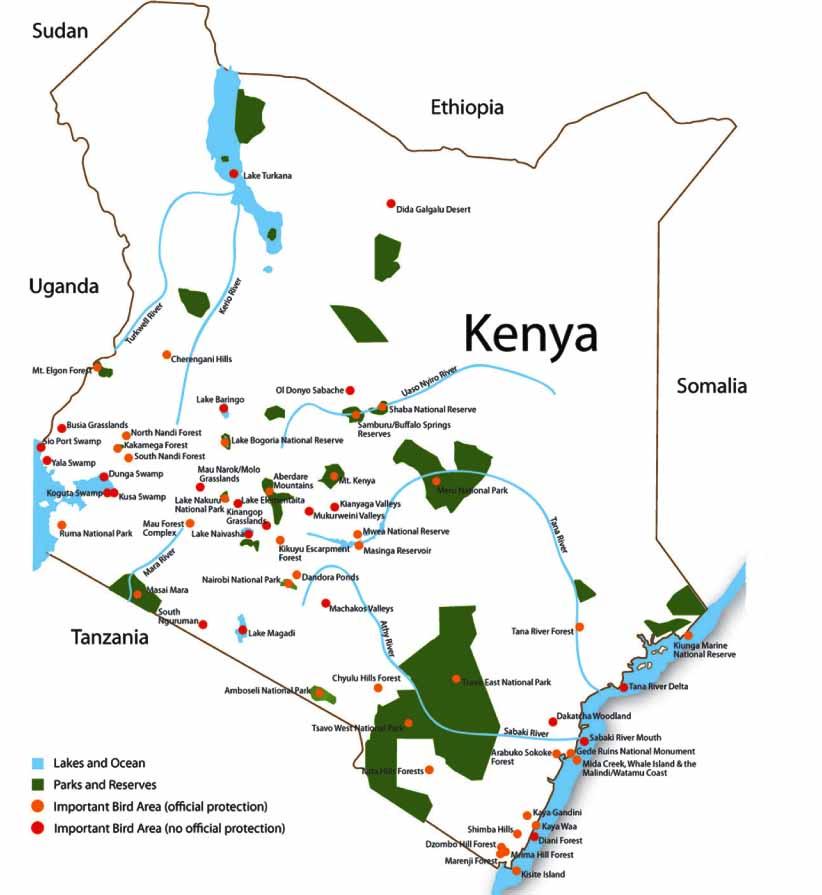 Kenya's Important Bird Areas